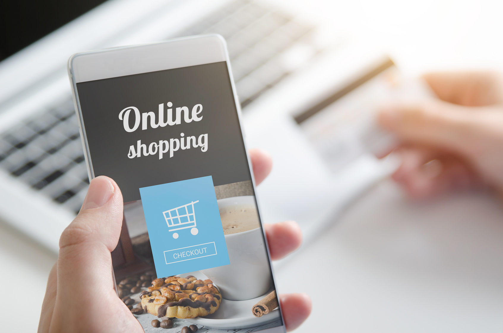 Online Shopping am Smartphone